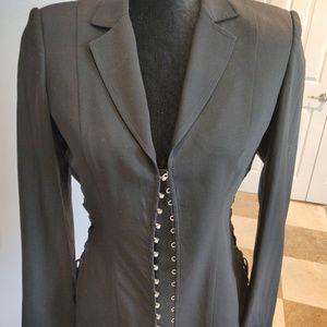 Roberto Cavalli black corset jacket blazet 6 8